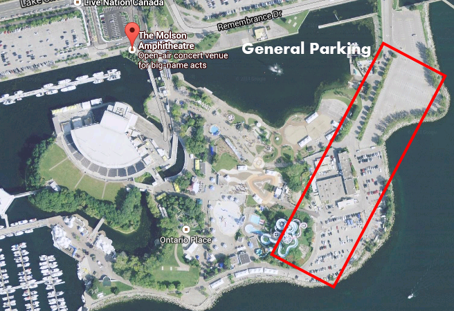 Budweiser Stage Parking | Budweiser Stage | Previously Molson ... on