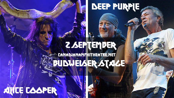 Deep Purple & Alice Cooper at Budweiser Stage