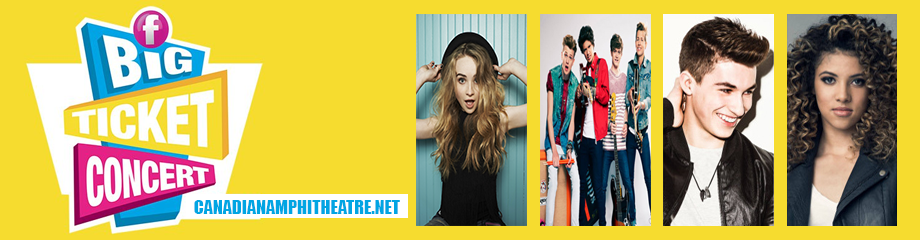 Family Channels Big Ticket Concert: Sabrina Carpenter, The Vamps & McKenzie Small at Budweiser Stage