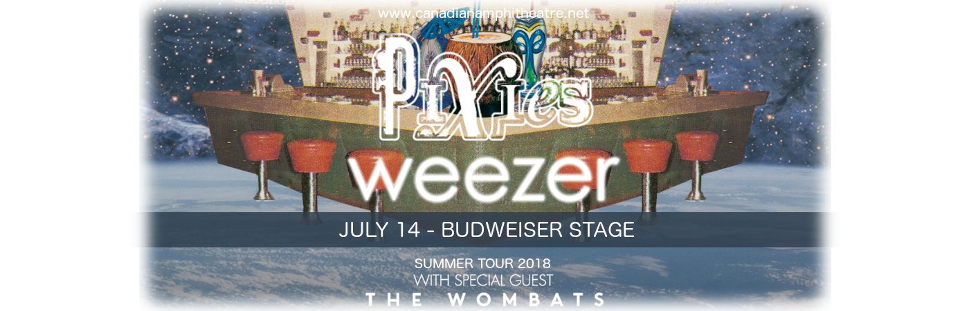 Weezer, Pixies & The Wombats at Budweiser Stage