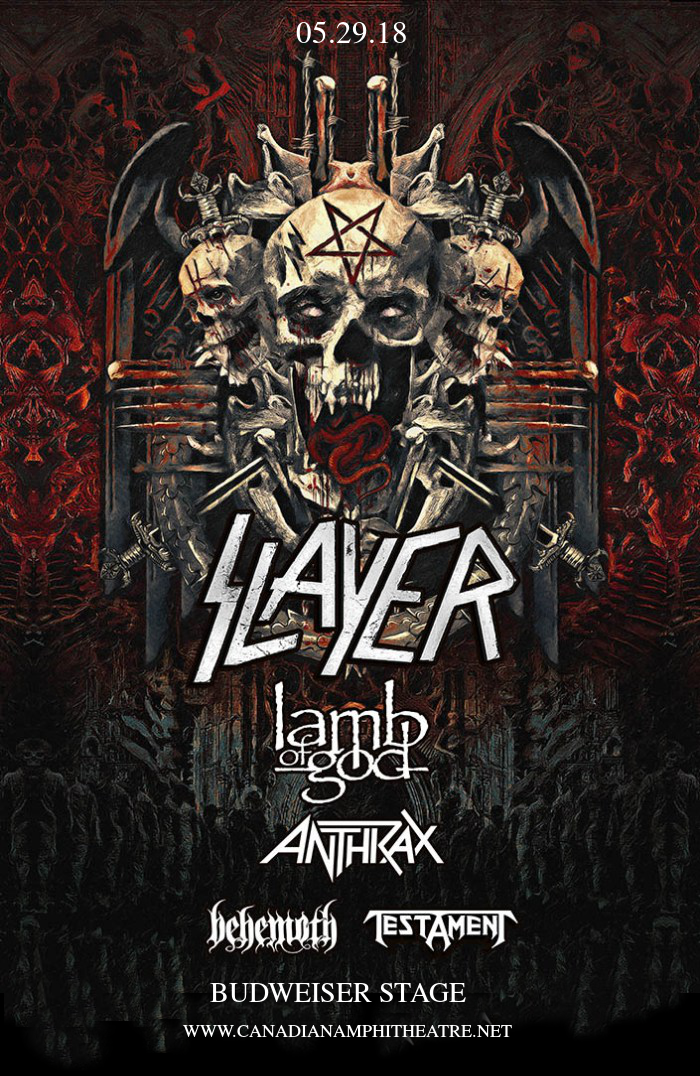 Slayer, Lamb of God, Anthrax. Behemoth & Testament at Budweiser Stage