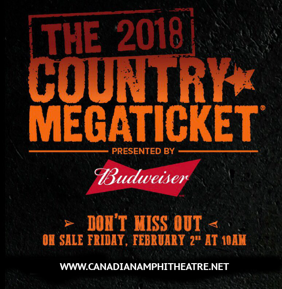 2018 Country Megaticket Tickets (Includes All Performances) at Budweiser Stage