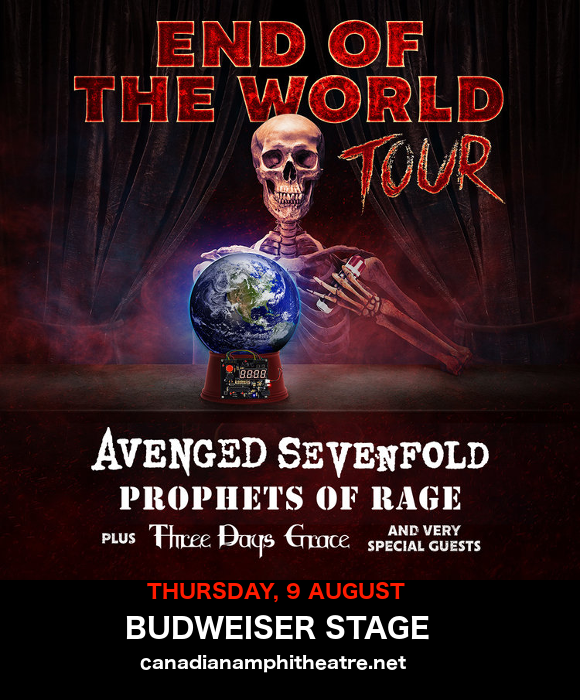 **CANCELLED** End of the World Tour: Avenged Sevenfold, Prophets of Rage & Three Days Grace at Budweiser Stage