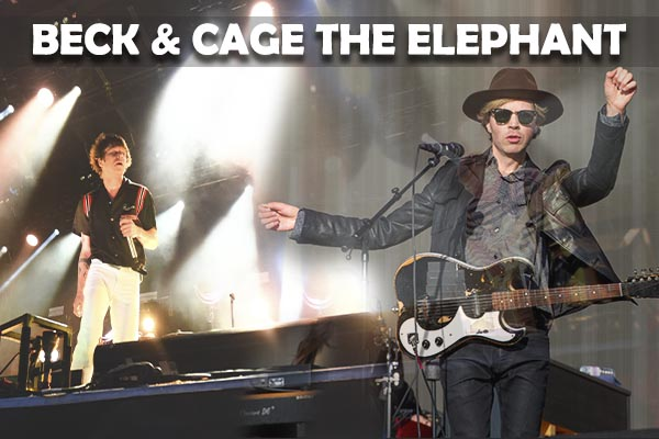 Beck & Cage The Elephant at Budweiser Stage