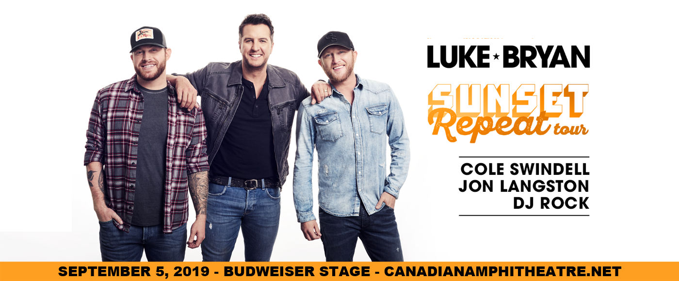 Luke Bryan, Cole Swindell & Jon Langston. at Budweiser Stage