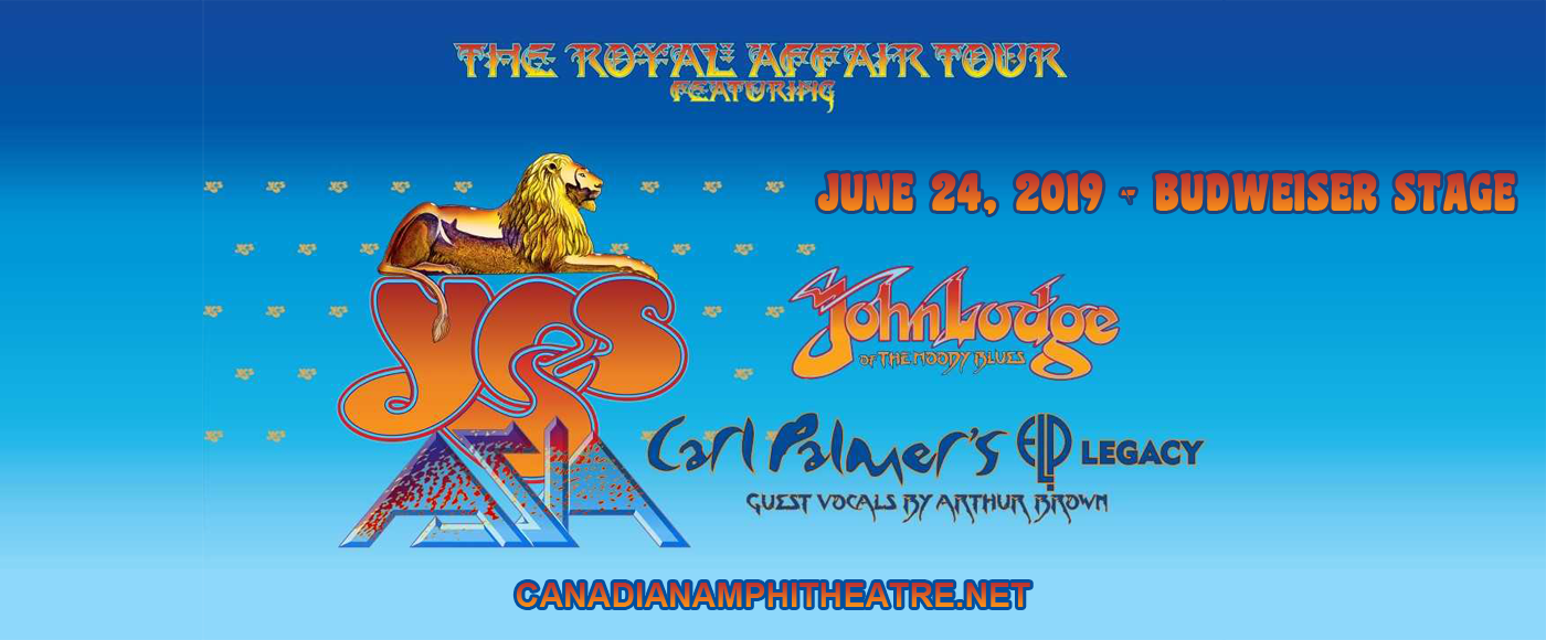 The Royal Affair: Yes, Asia, John Lodge & Carl Palmer's ELP Legacy at Budweiser Stage