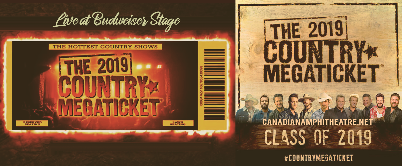 2019 Country Megaticket Tickets (Includes All Performances) at Budweiser Stage