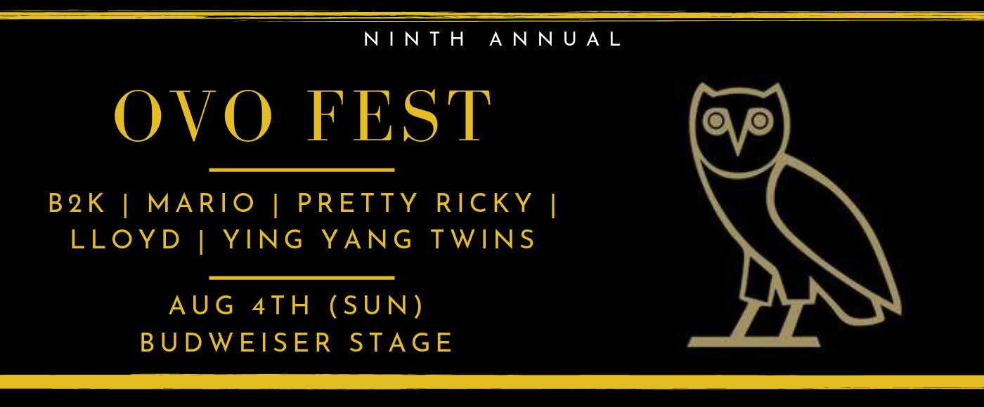 OVO Fest: B2K, Mario, Pretty Ricky, LLoyd & Ying Yang Twins  - Sunday at Budweiser Stage