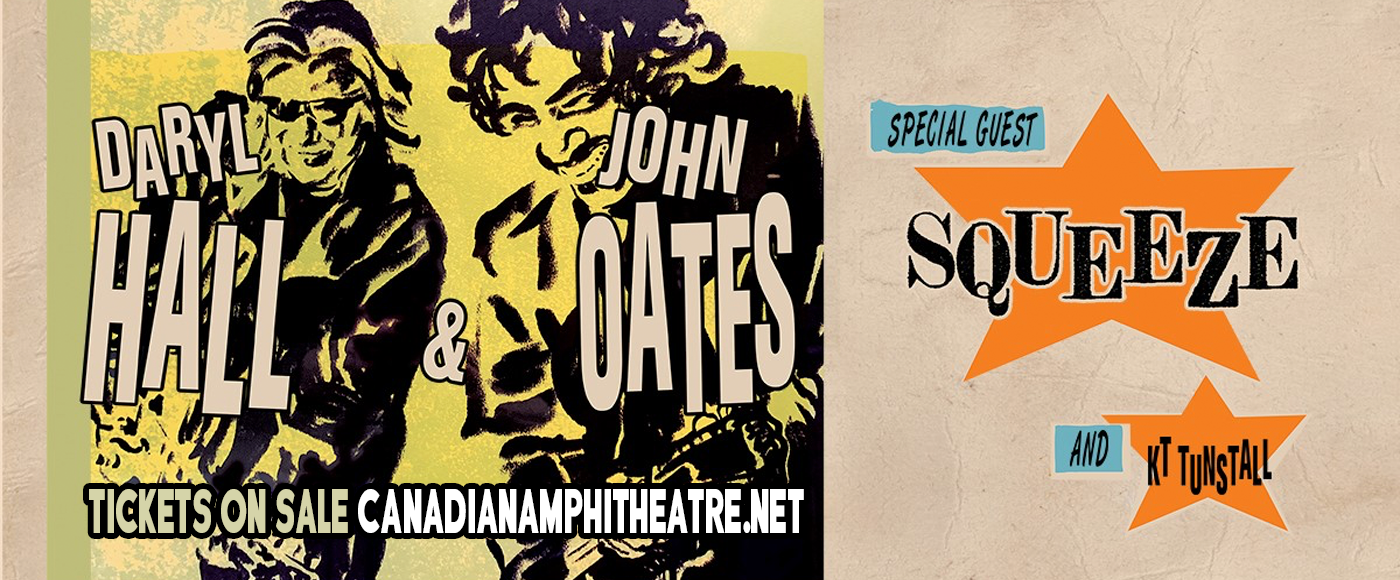 Hall and Oates, KT Tunstall & Squeeze at Budweiser Stage