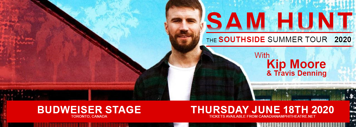 Sam Hunt, Kip Moore & Travis Denning at Budweiser Stage