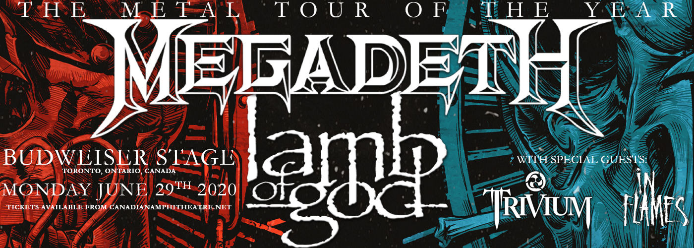 Megadeth & Lamb of God [POSTPONED] at Budweiser Stage