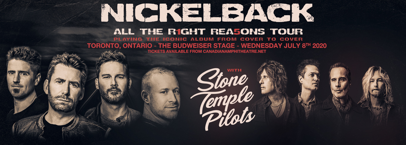 Nickelback, Stone Temple Pilots & Tyler Bryant and The Shakedown [CANCELLED] at Budweiser Stage