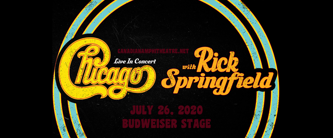 Chicago - The Band & Rick Springfield [CANCELLED] at Budweiser Stage
