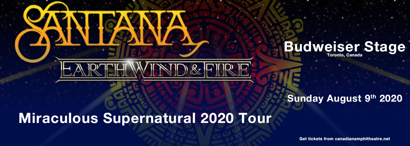 Santana & Earth, Wind and Fire at Budweiser Stage