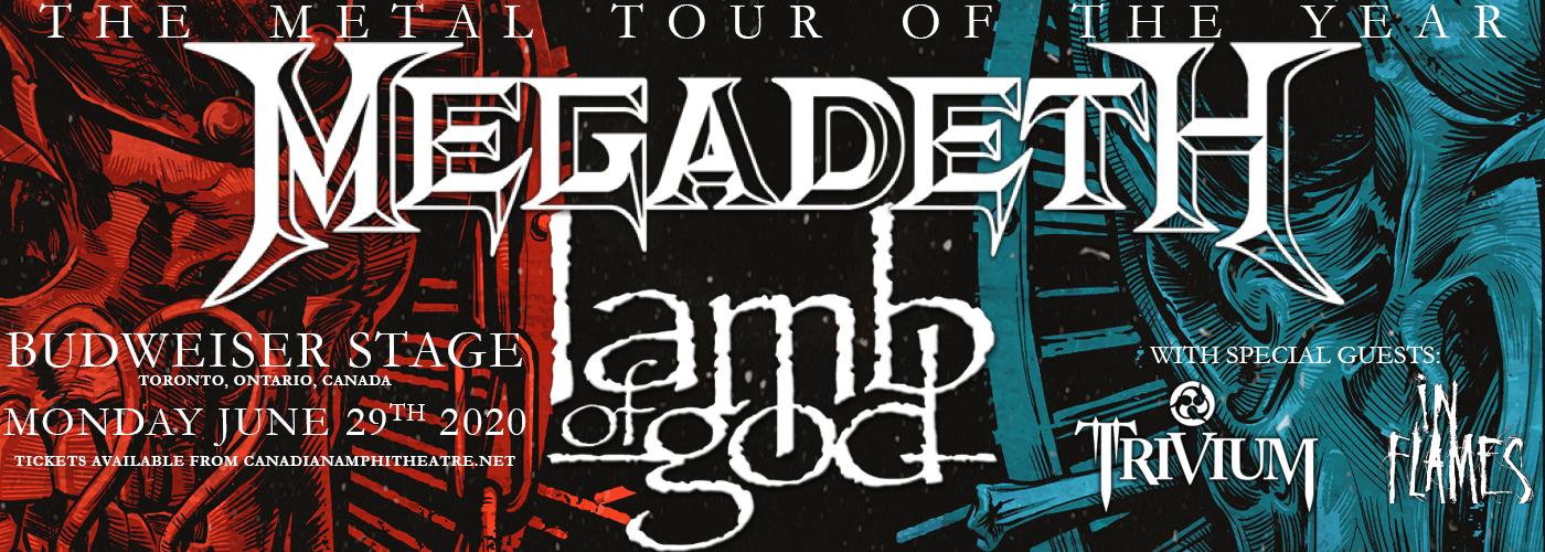 Megadeth & Lamb of God at Budweiser Stage